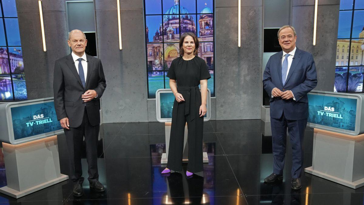 Eine Woche vor der Bundestagswahl haben sich die Kanzlerkandidaten von  Union, SPD und Grünen ihrem letzten großen Schlagabtausch im Fernsehen  gestellt.