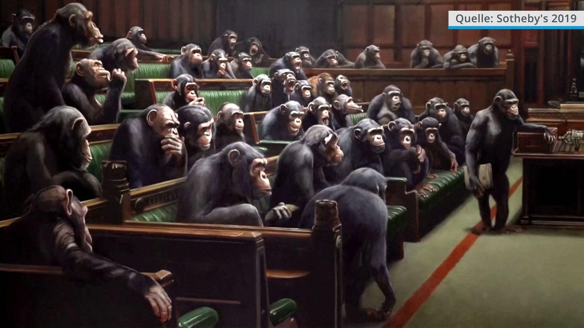 """Provokantes Kunstwerk: """"Devolved Parliament"""" von Banksy"""