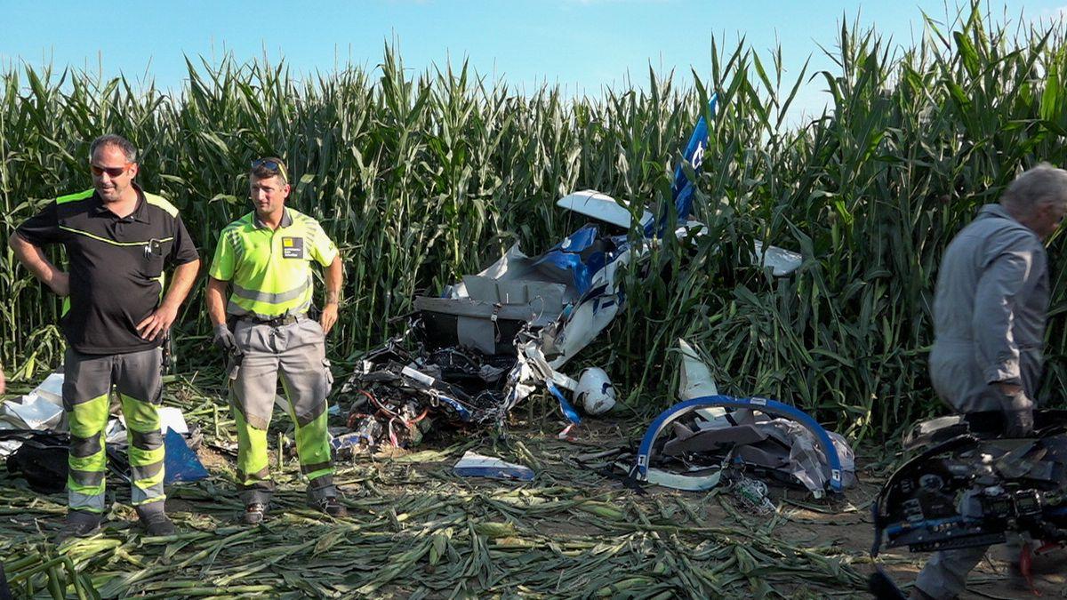 Abgestürztes Flugzeug in Jesenwang
