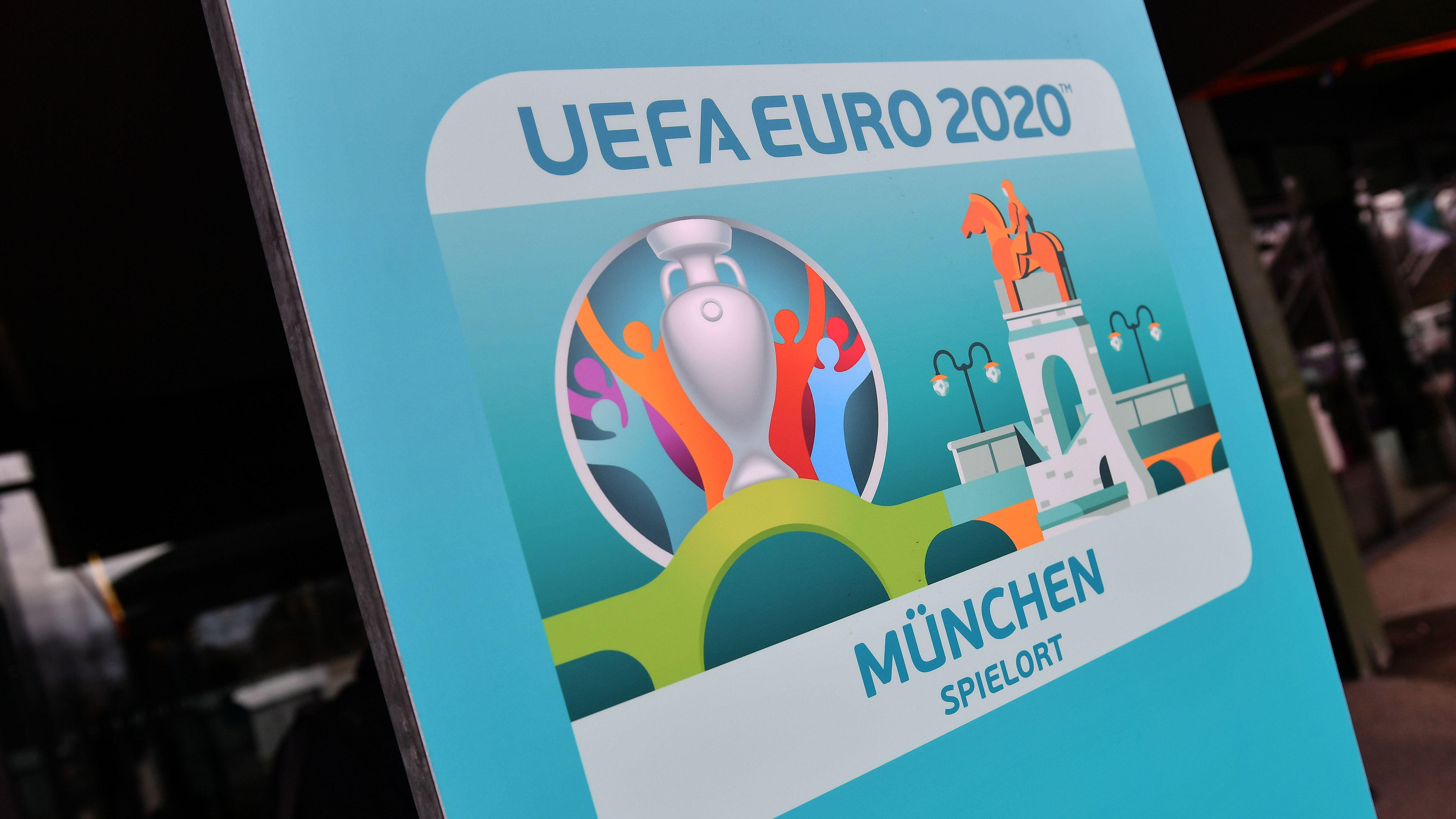Werbeplakat für den EM-Spielort München