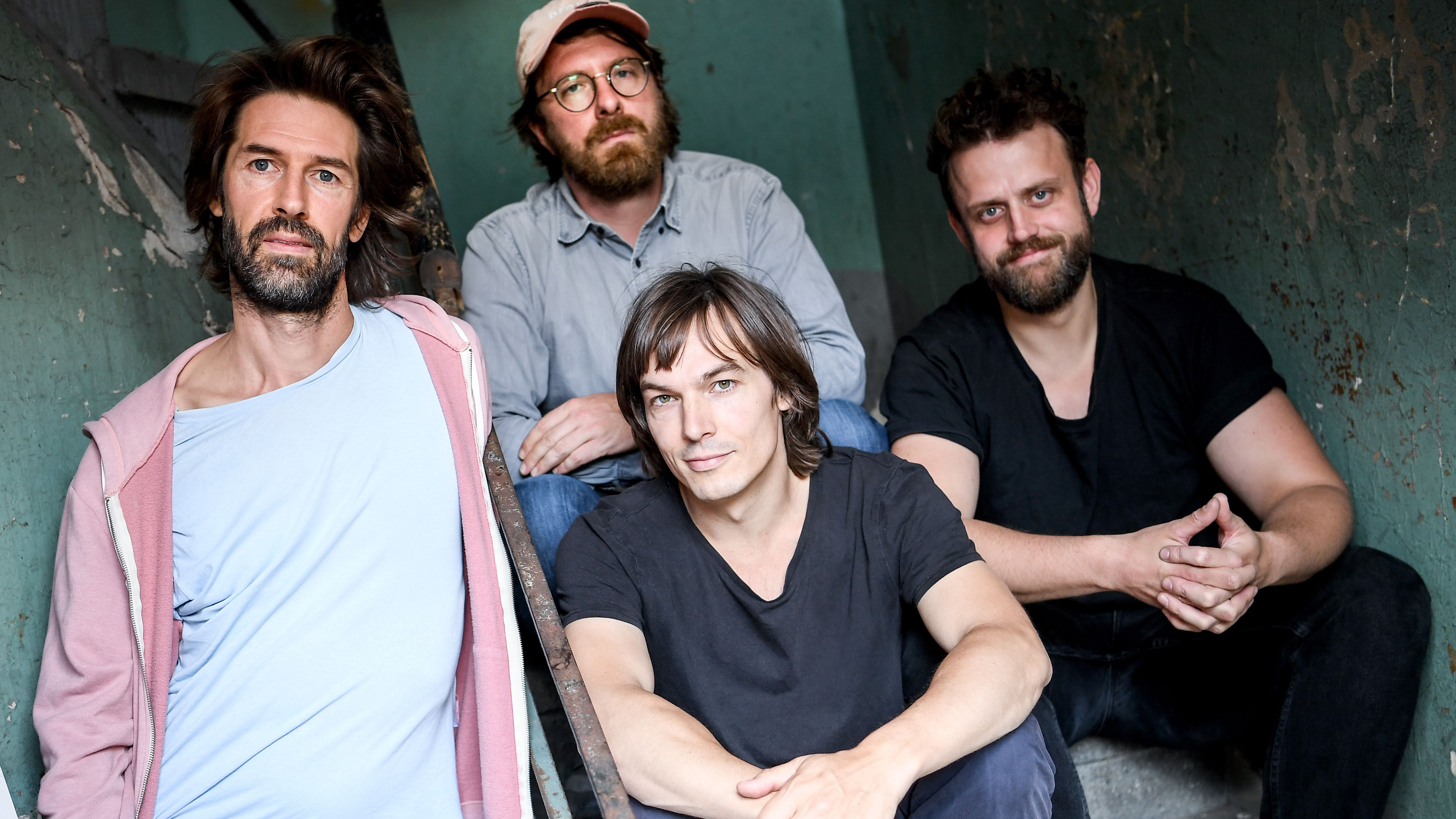 Bandmitglieder Felix Weigt, Max Schröder, Moritz Krämer und Francesco Wilking (von links nach rechts)