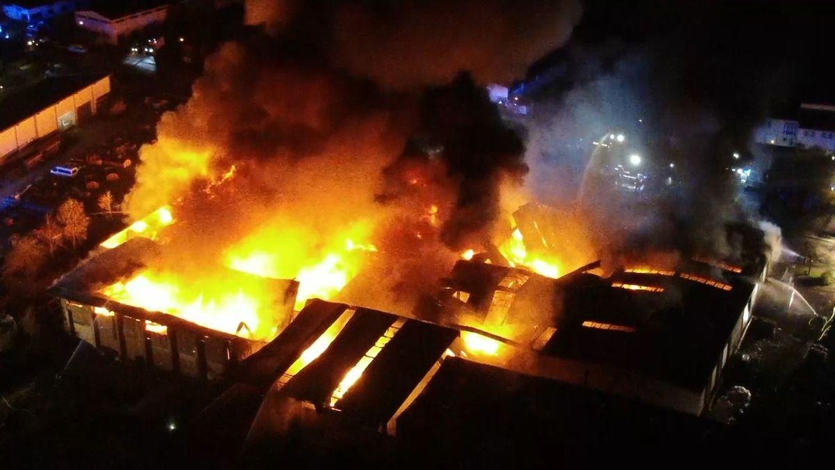 Millionenschaden bei Großbrand in Rothenburg