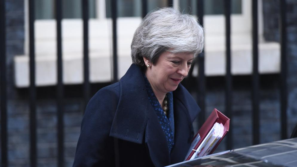 Britische Premierministerin Theresa May | Bild:dpa-Bildfunk/Stefan Rousseau