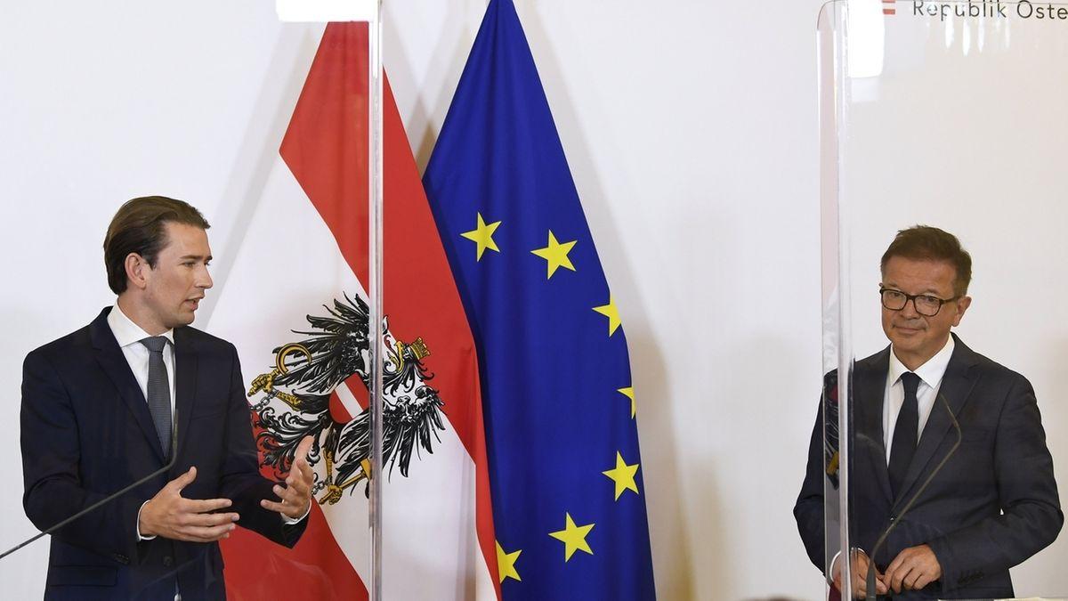 Österreichs Bundeskanzler Sebastian Kurz (links) und sein Gesundheitsminister Rudolf Anschober
