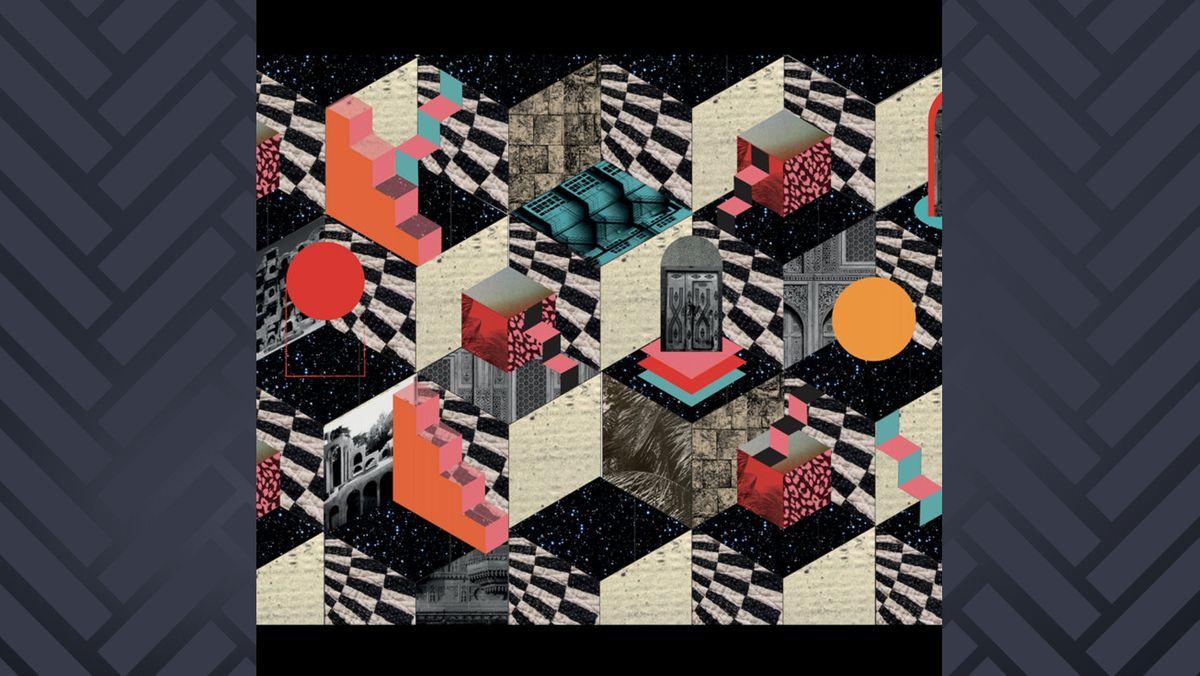 Das vielfarbige Op-Art-Cover spiegelt die Komplexität der Musik wider.