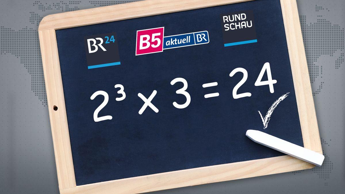 Eine Tafel mit den Logos der BR-Infofamilie, die ab 1. Juli unter dem Namen BR24 auftritt