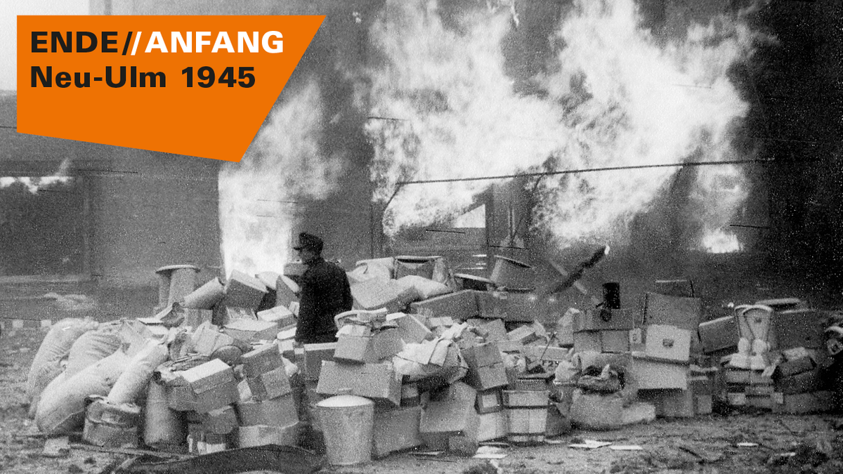 """Plakat zur Ausstellung """"ENDE // ANFANG: Neu-Ulm 1945"""""""