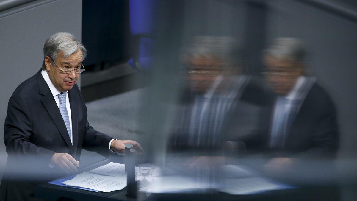 UN-Generalsekretär António Guterres hält eine Rede im Deutschen Bundestag