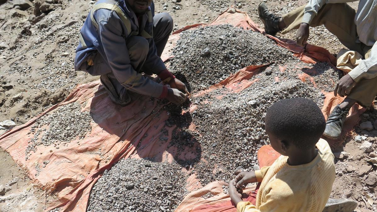 Kinderarbeit in einer Kobaltmine im Kongo