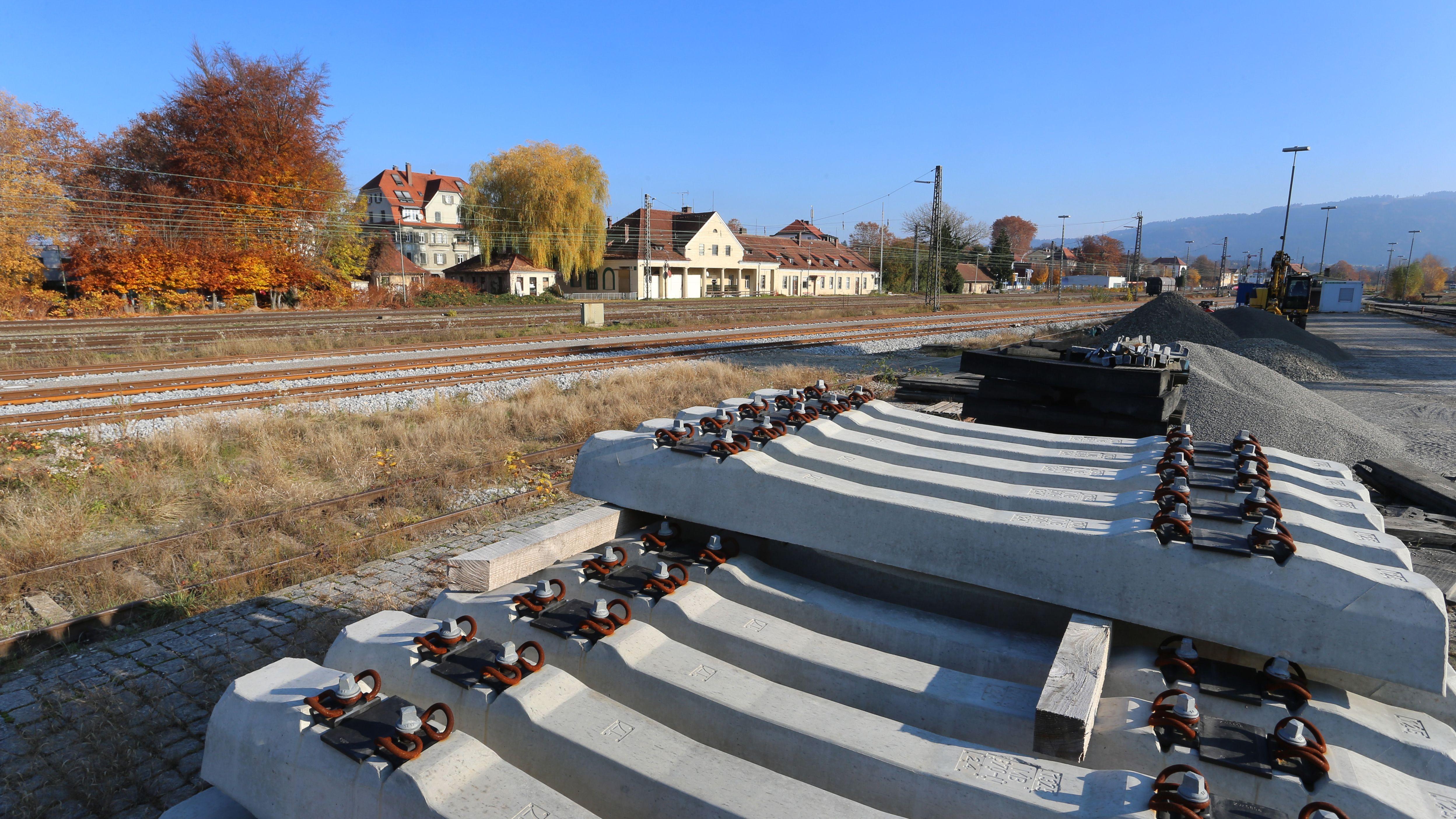 Blick auf den Bahnhof Lindau-Reutin