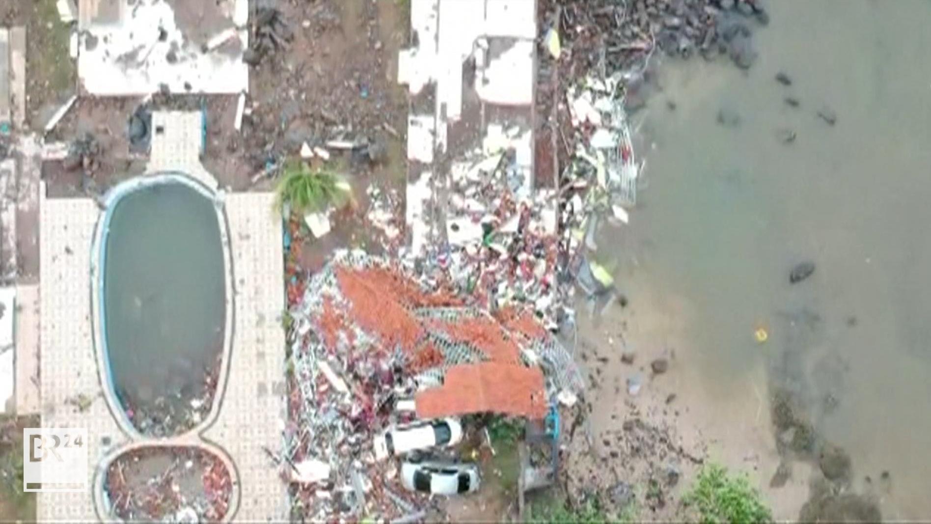 Zerstörung durch Tsunami