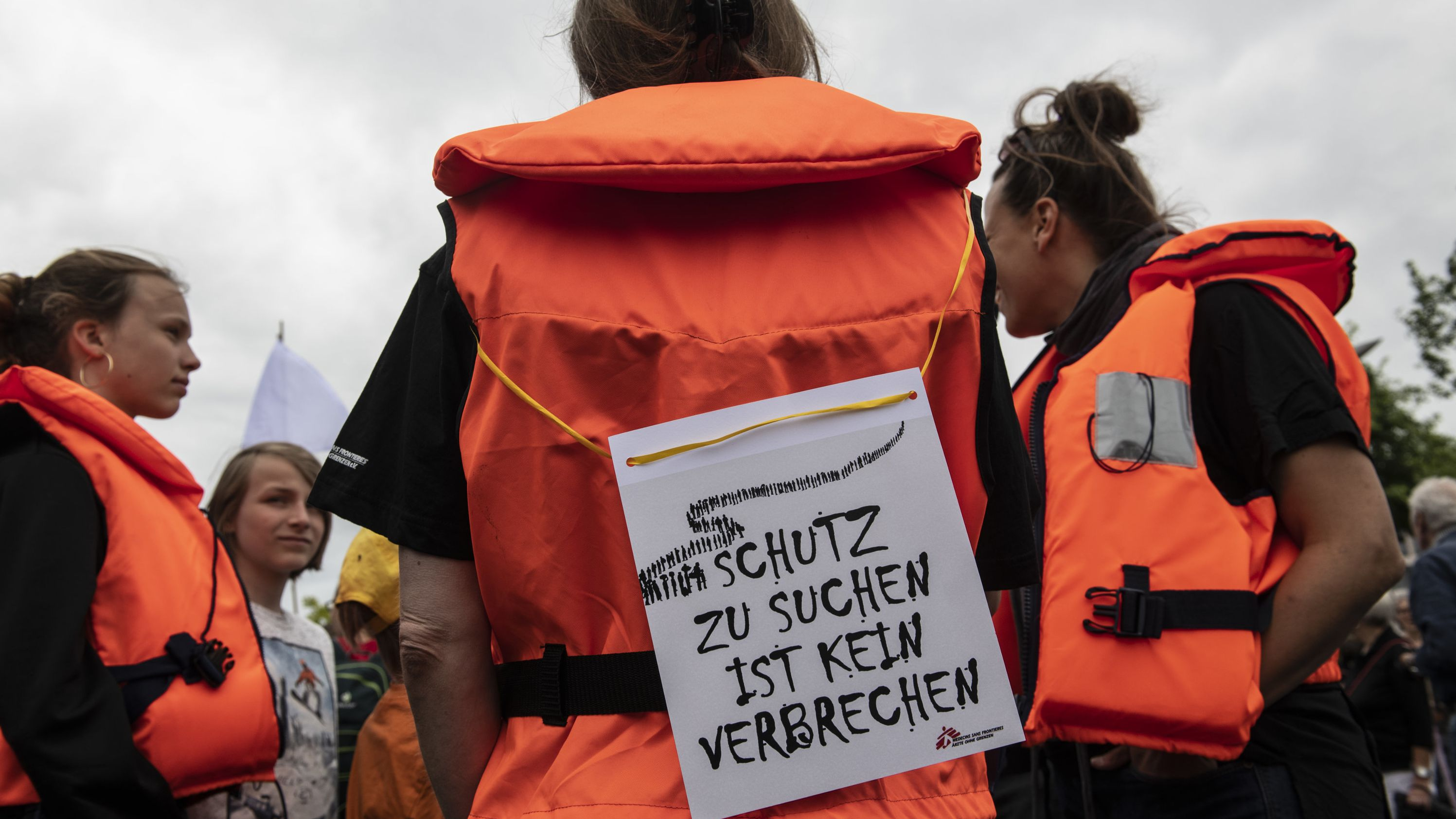 Solidaritätsdemonstrationen Seebrücke, hier in Berlin
