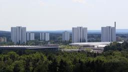 Blick auf die Hochhäuser des Stadtteils Langwasser in Nürnberg  | Bild:picture-alliance/dpa