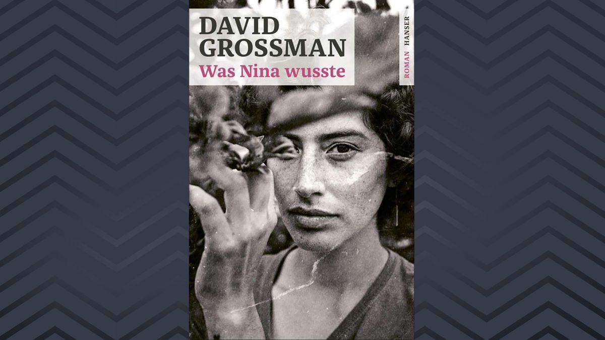 """Porträt einer schönen Frau mit einem verdeckten Auge. Cover: """"Was Nina wusste"""" von David Grossman"""