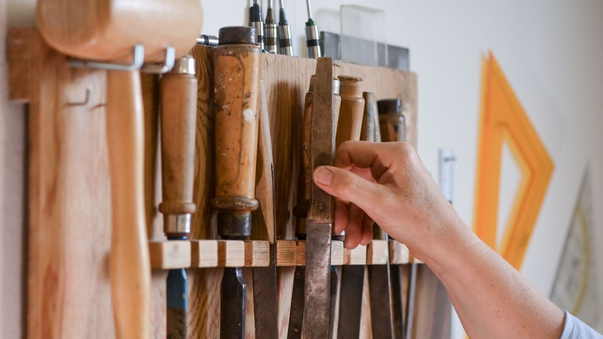 Werkzeugleiste in einer Werkstatt