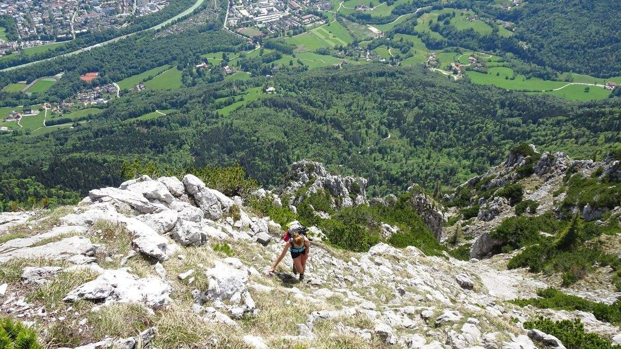 Bergwanderer am Hohenstaufen (Symbolbild).