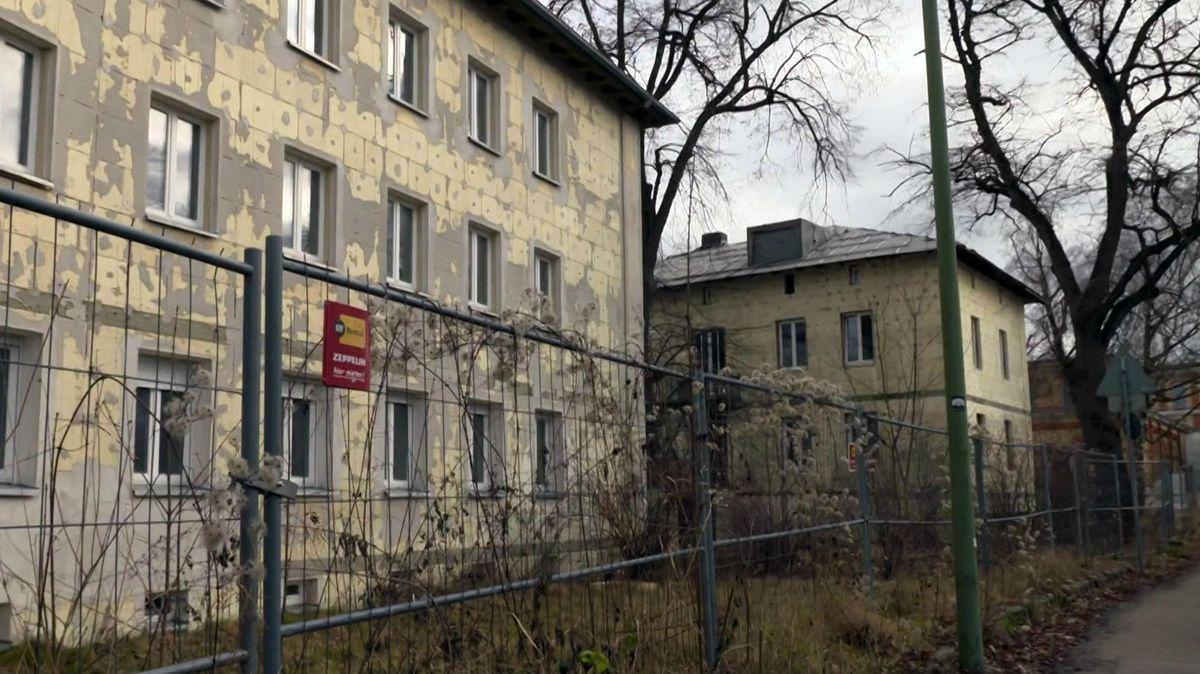 Unfertige Mehrfamilienhäuser im Proviantbachquartier in Augsburg