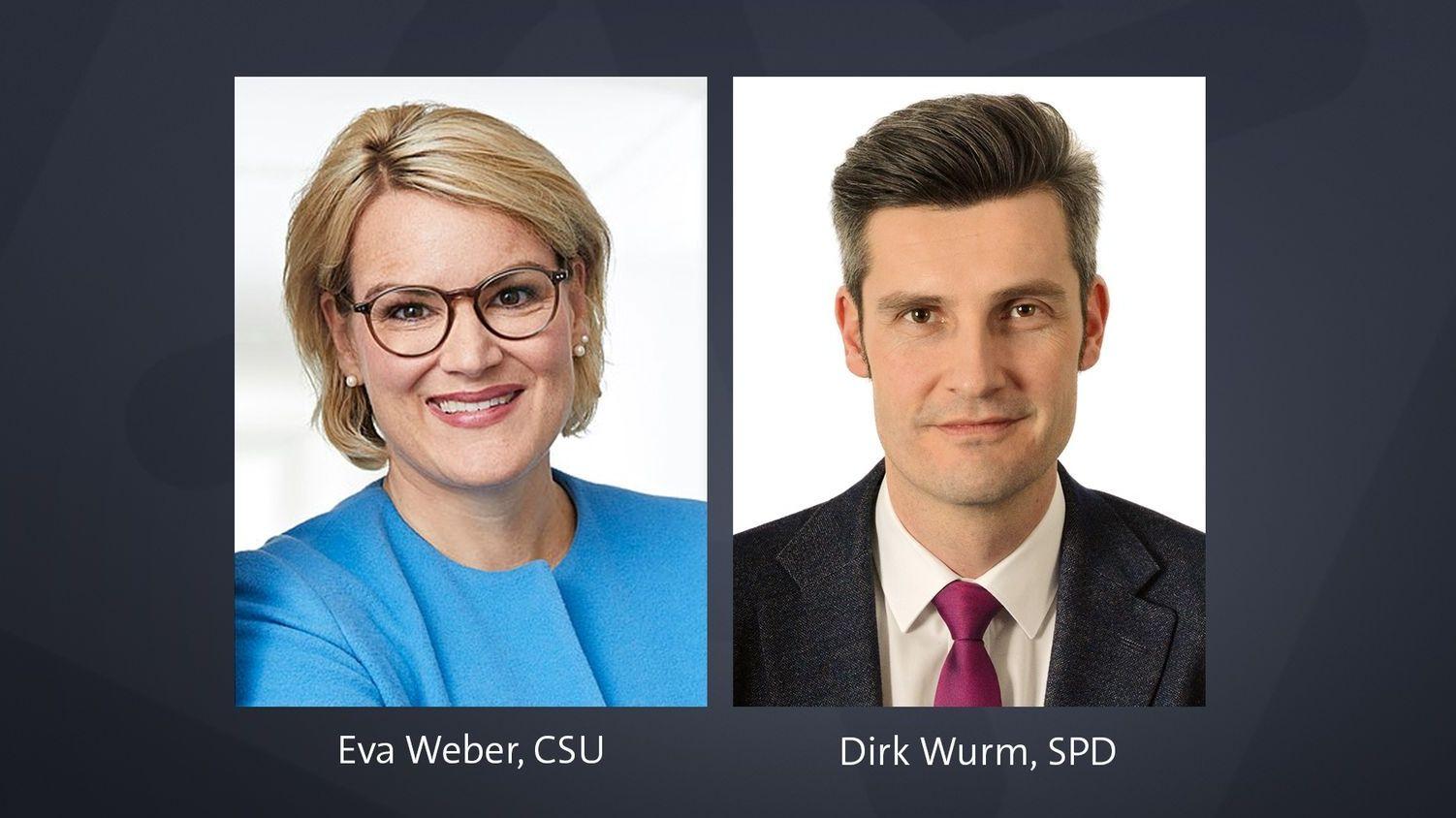 Eva Weber und Dirk Wurm stehen in der zweiten Runde der Augsburger Kommunalwahl
