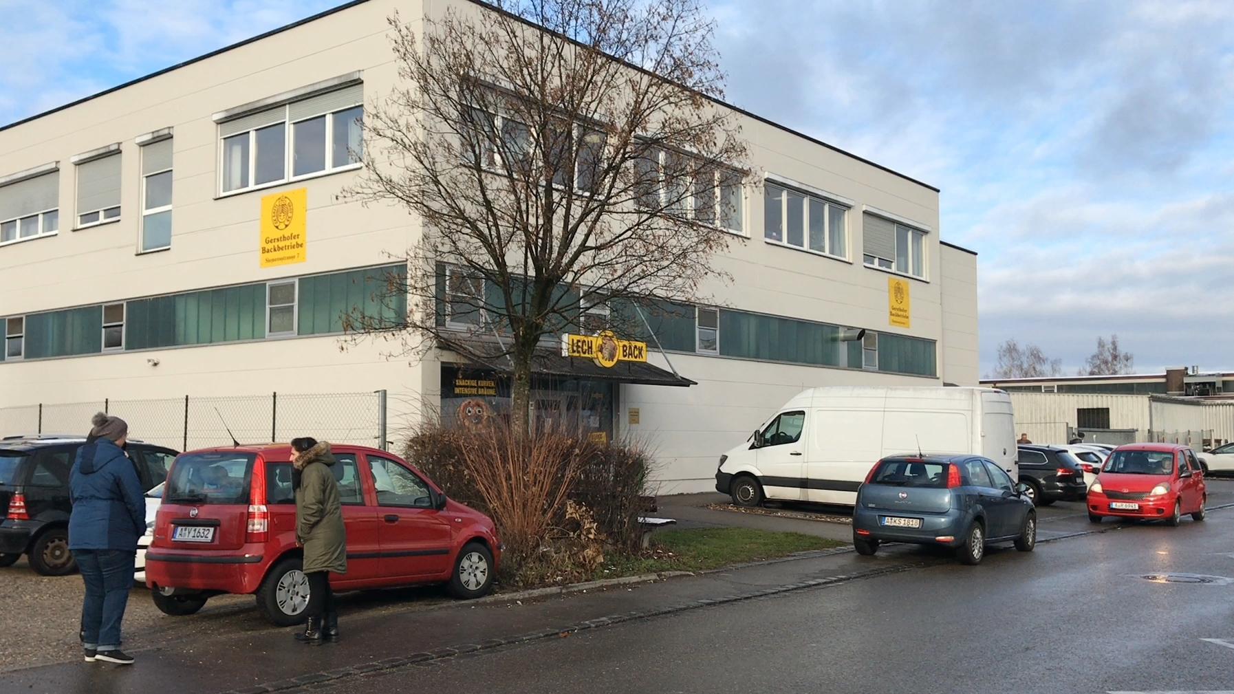 Das Gebäude der Gersthofer Backbetriebe im Landkreis Augsburg