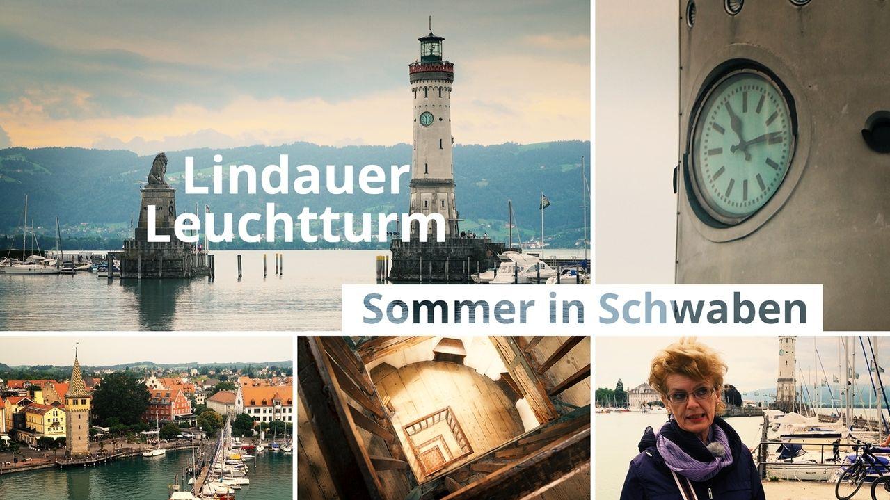 Hafen und Leuchtturm von Lindau (Collage)