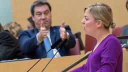 Schulze im Landtag | Bild:Peter Kneffel/dpa