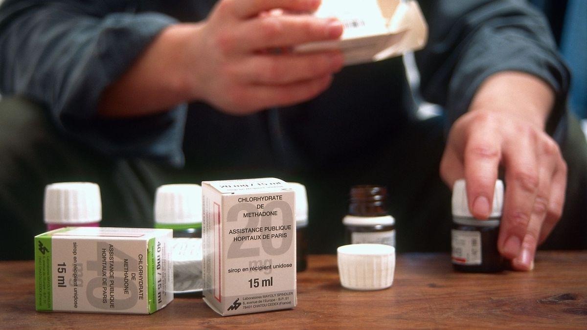 Verschiedene Methadon-Verpackungen.