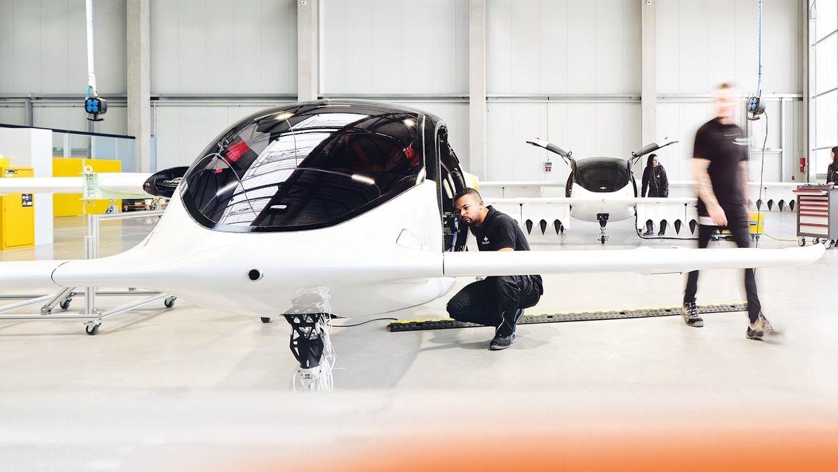 Produktion des Lilium-Jets in Wessling.
