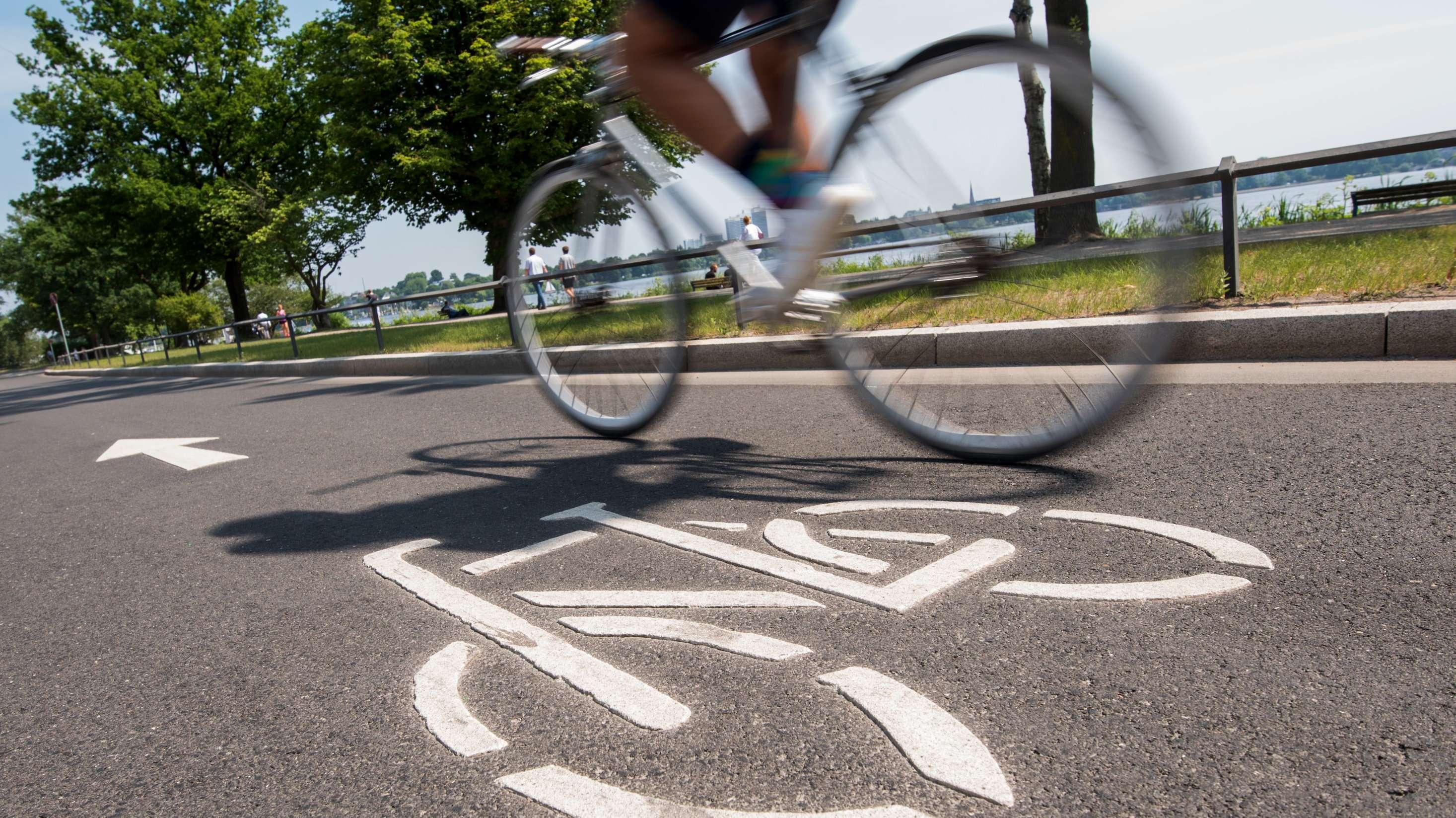 Fahrradstraße in Hamburg