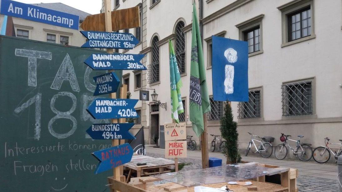 Klimacamp am Augsburger Rathaus