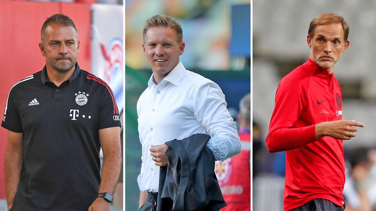 Erfolgreiches Trainer-Trio: Hansi Flick, Julian Nagelsmann und Thomas Tuchel