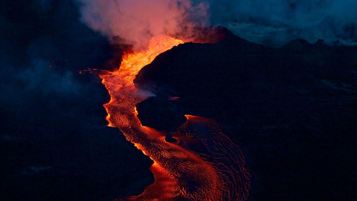 Lavastrom beim Ausbruch des Kīlauea 2018