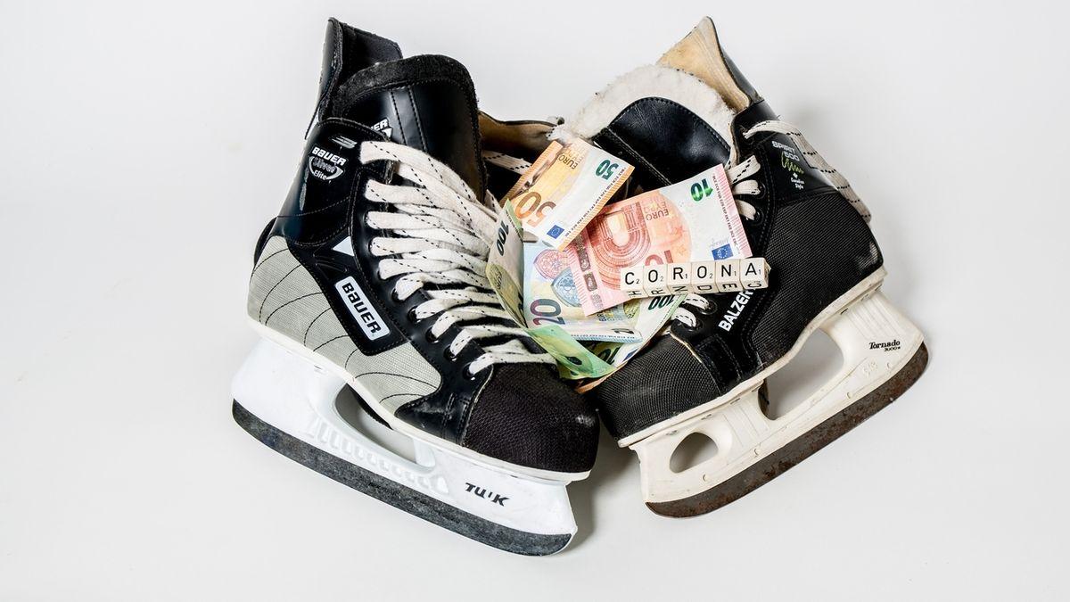 Symbolbild Eishockey in der Corona-Pandemie