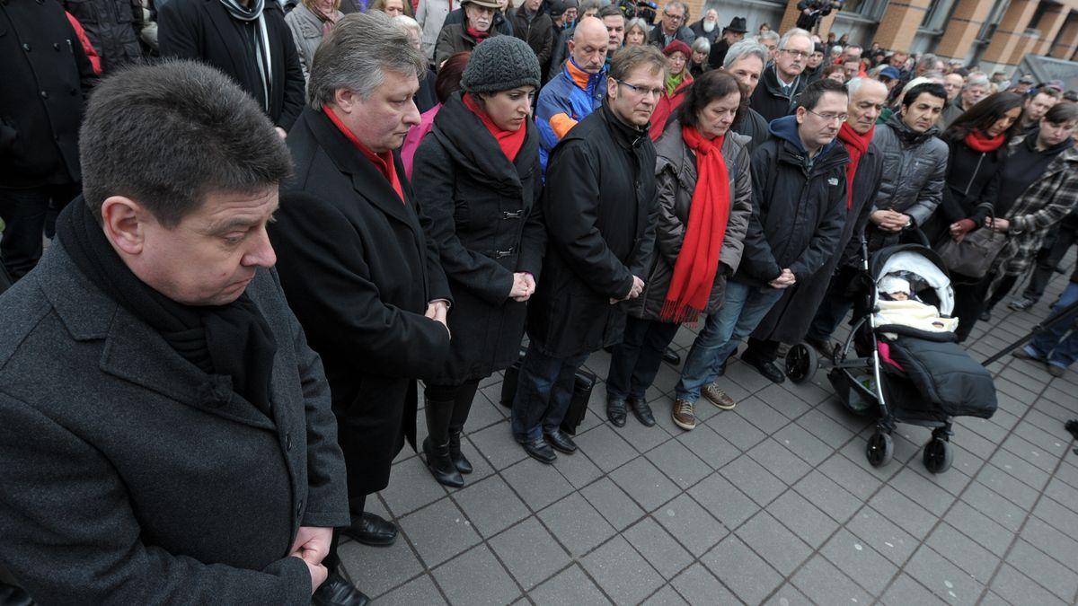 Der Vorsitzende der Allianz gegen Rechtsextremismus, Stephan Doll (l.) lehnt den Beitritt von Schwarzenbruck ab