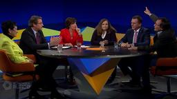 Kontroverse Diskussion über das Thema Nahverkehr in der Münchner Runde vom 13. November 2019.   Bild:BR