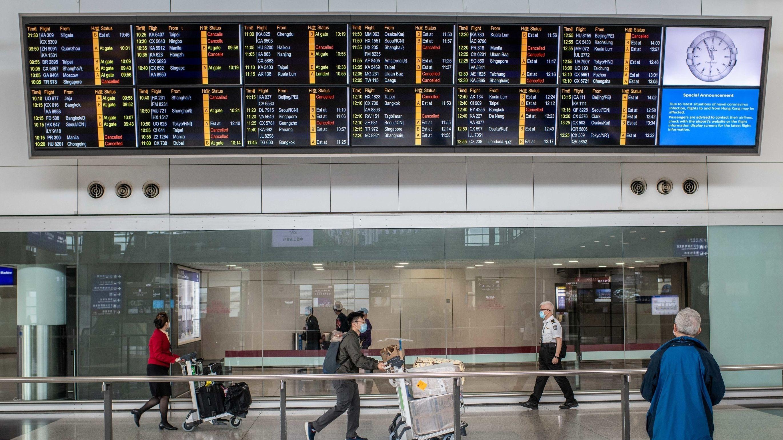 Der Flughafen in Hongkong.