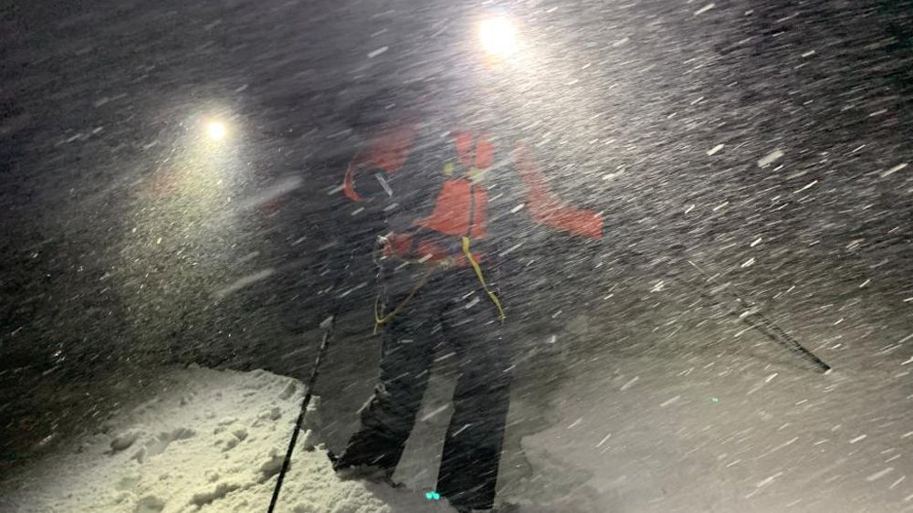 Bergretter im Schneesturm