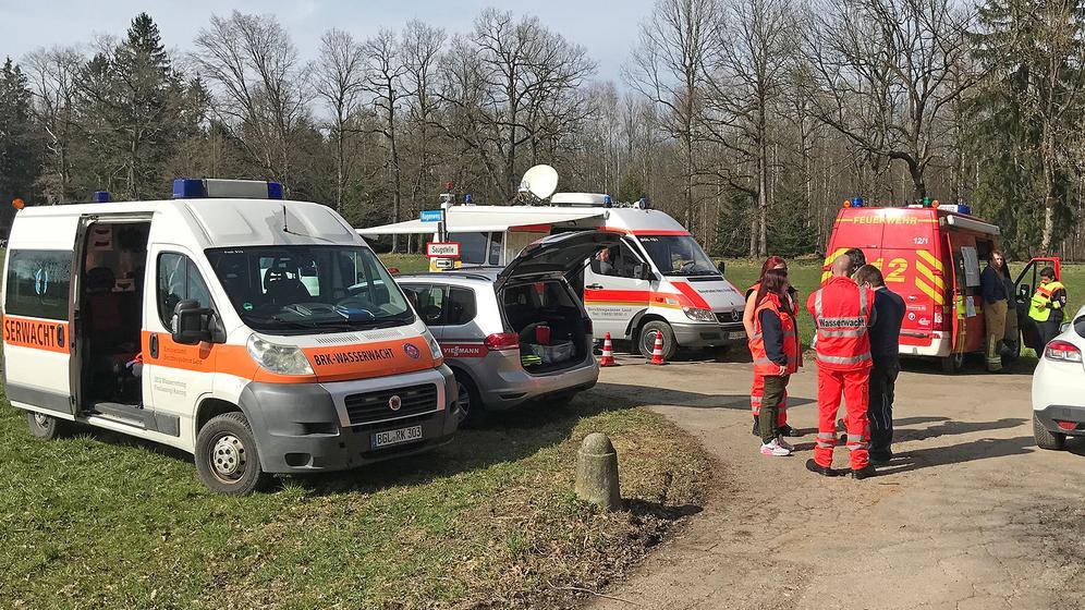BRK-Wasserwacht bei ihrem Einsatz | Bild:BRK-Berchtesgadener Land