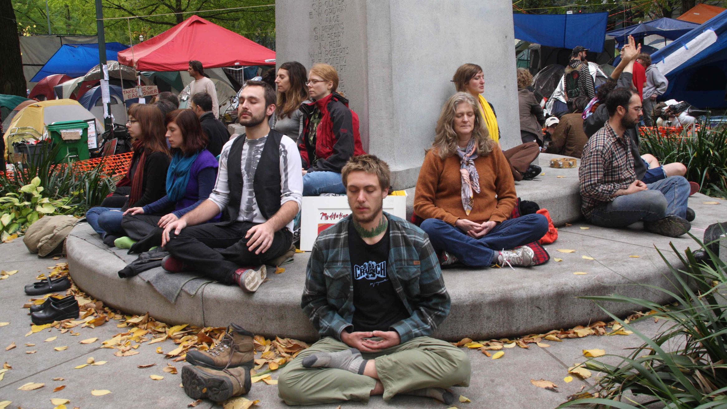 Occupy-Portland-Demonstranten im Jahr 2011