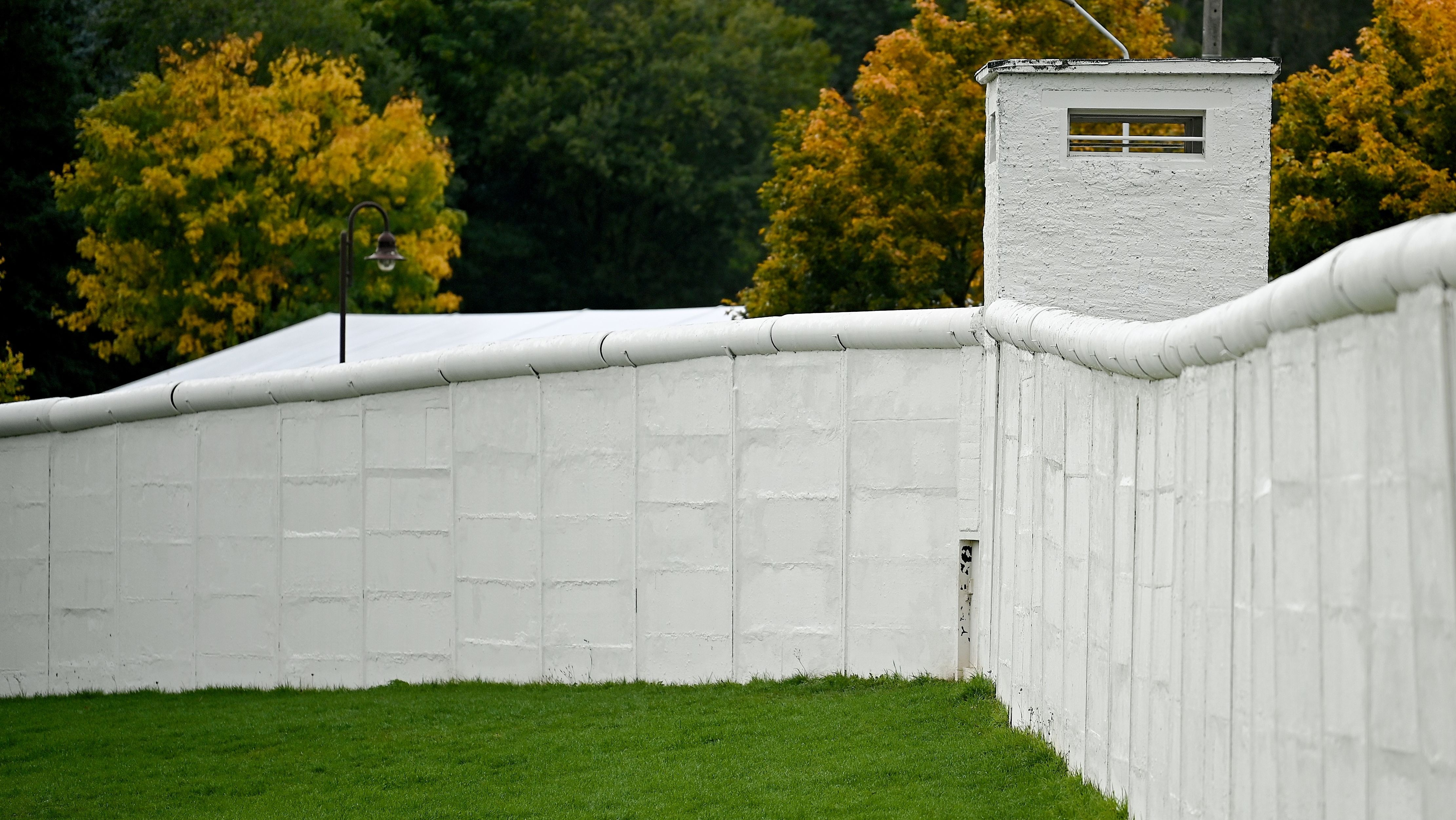 Ein Teil der ehemaligen Mauer gehört zum Deutsch-Deutschen Museum
