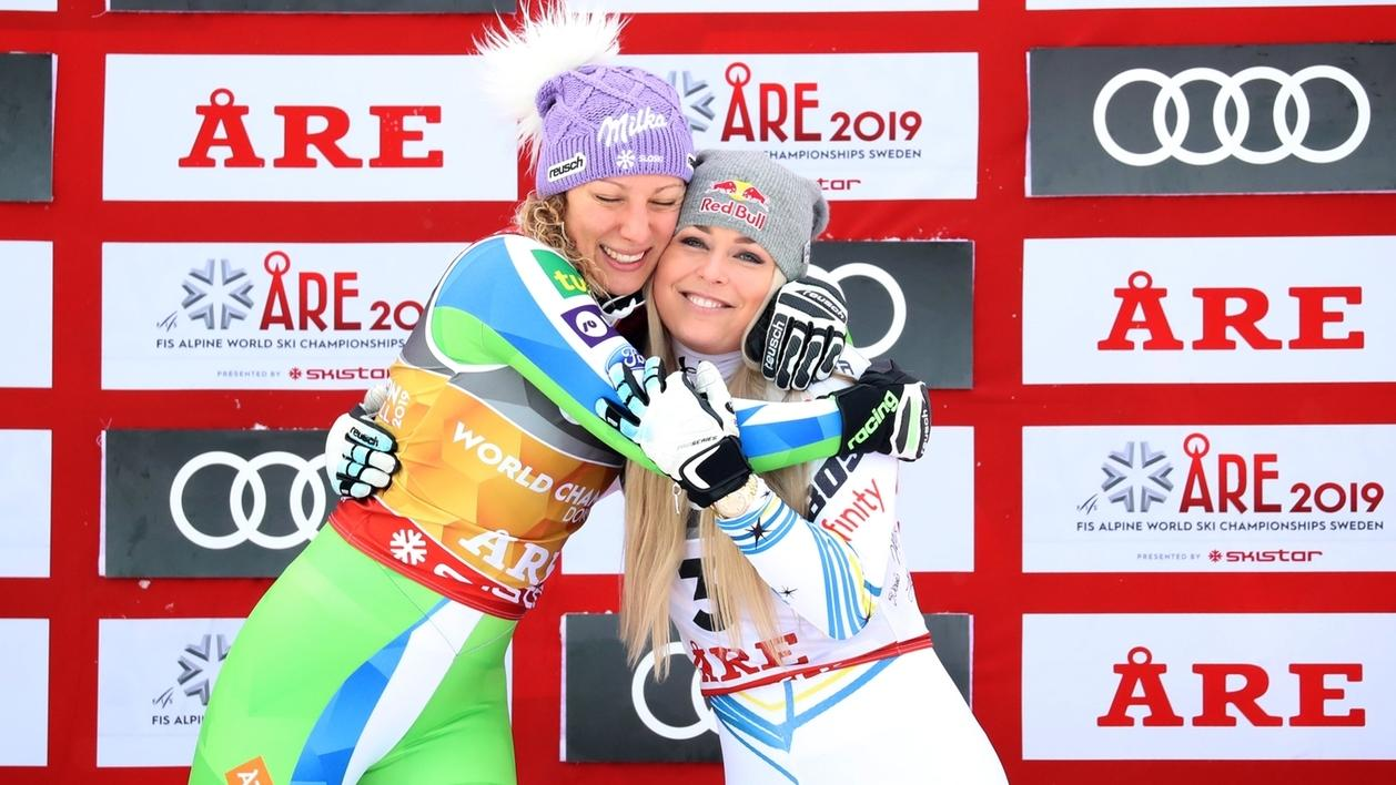 Ilka Stuhec und Lindsey Vonn
