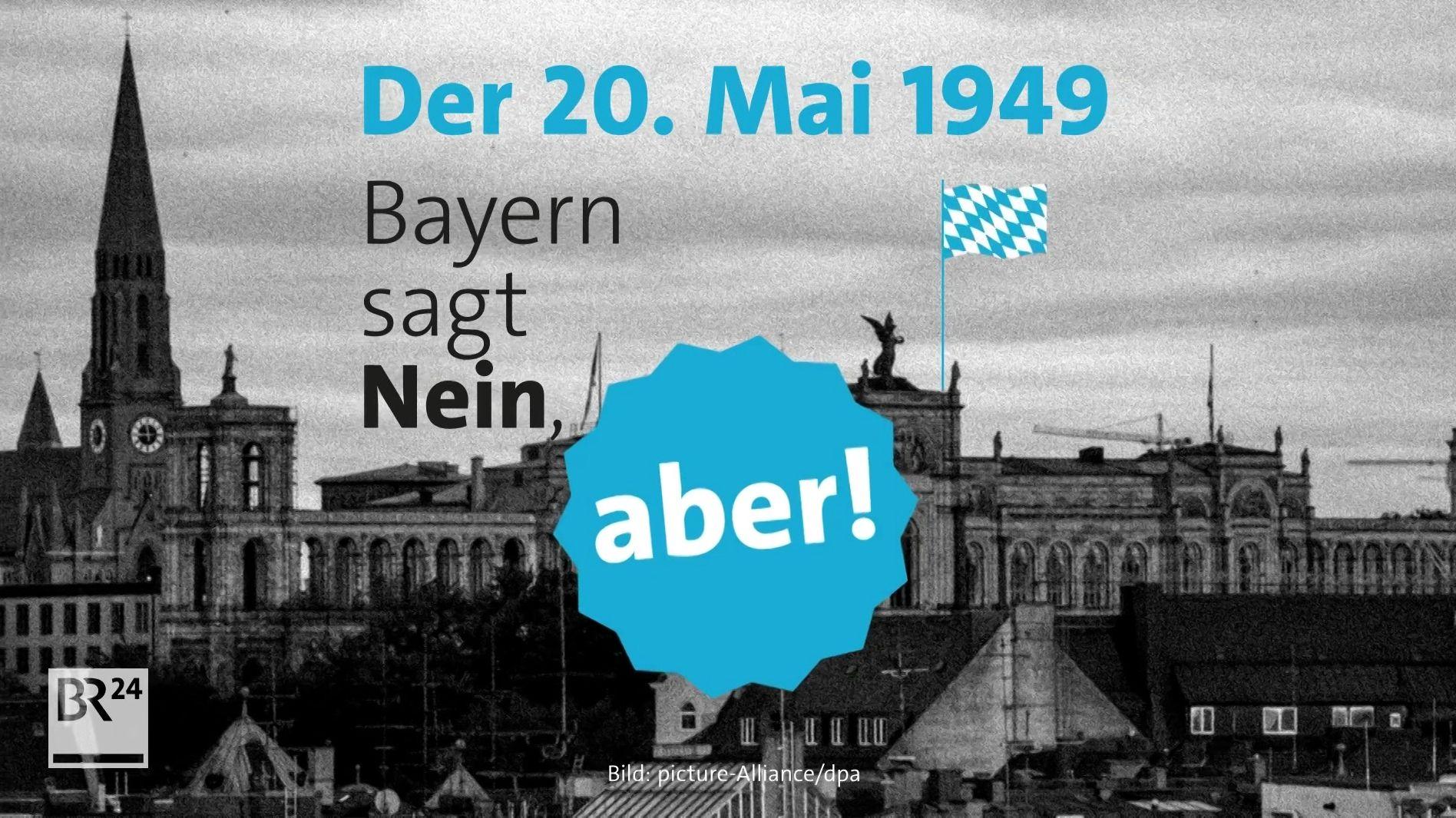 Grafik Grundgesetz und Bayern