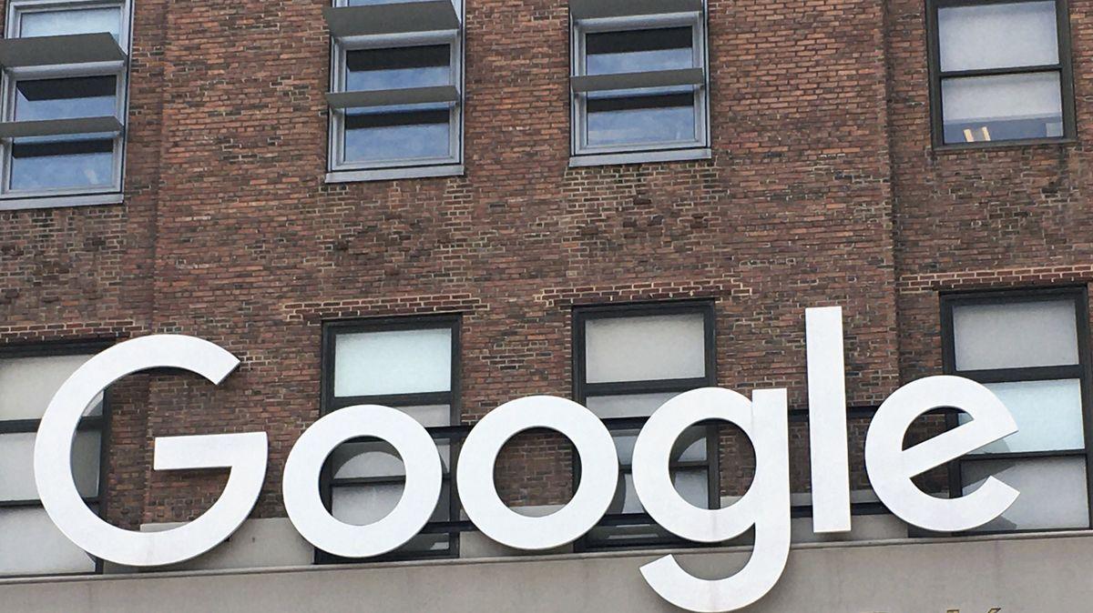 Google Logo am Standort NewYork