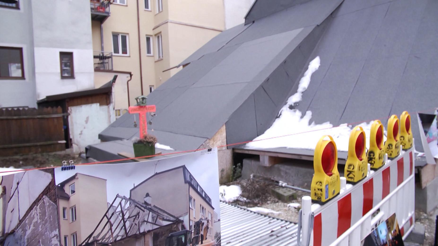 Illegal abgerissenes Uhrmacherhäusl in München Giesing
