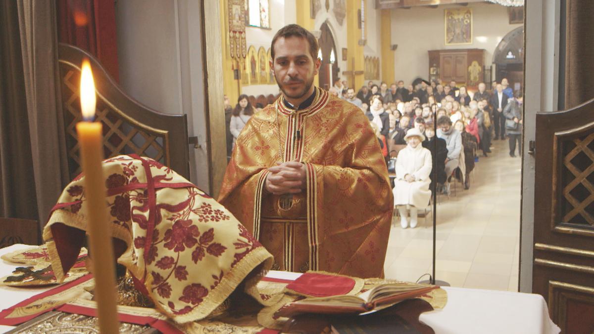 Griechisch-orthodoxe Liturgie in der Salvatorkirche in München.