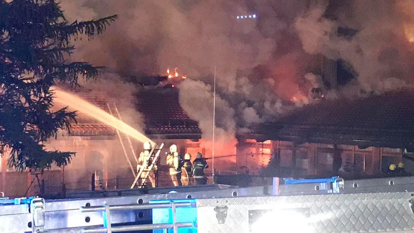 Großbrand in Berchtesgaden: Schule brennt nieder
