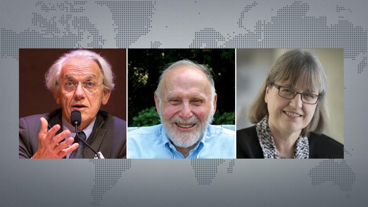 Physik-Nobelpreisträger Gérard Mourou, Arthur Ashkin,  Donna Strickland