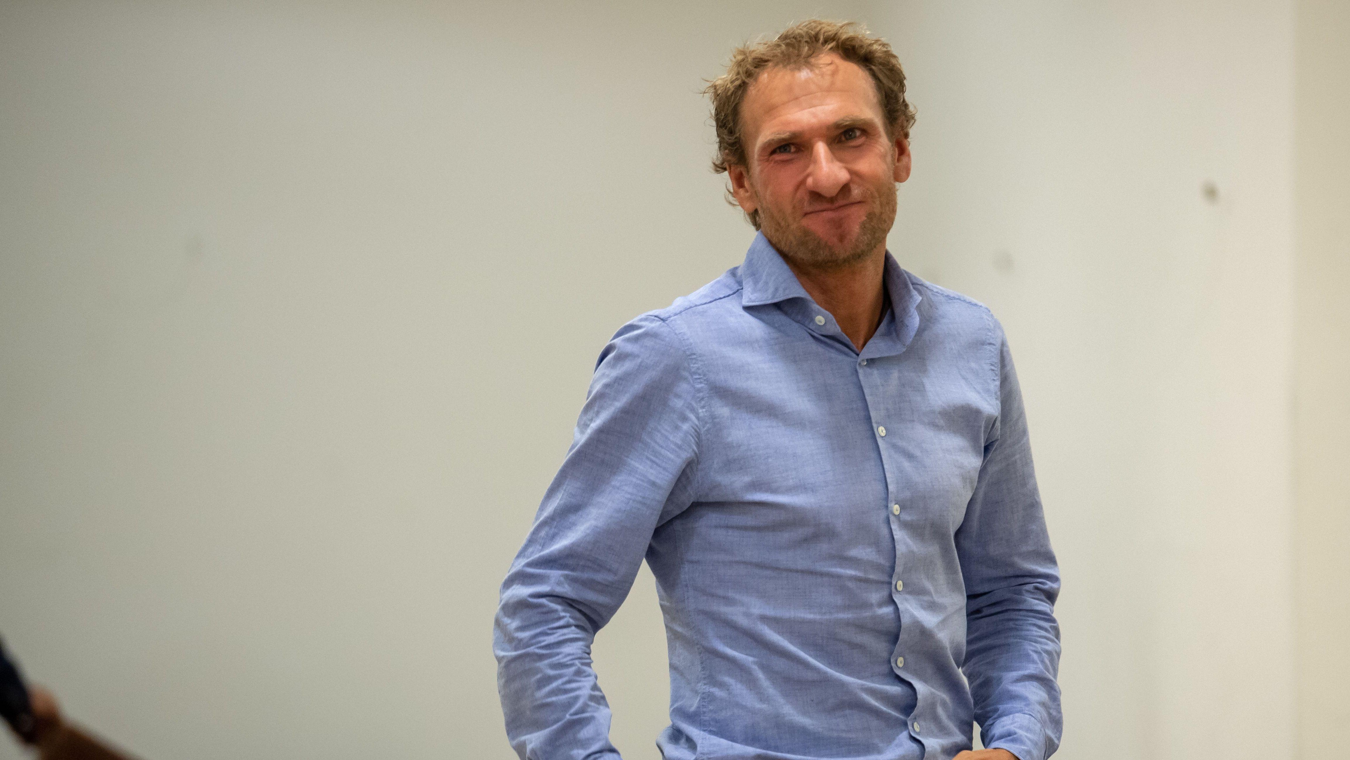 Andreas Stitzl, der frühere Co-Nationaltrainer im Biathlon gestern vor Gericht
