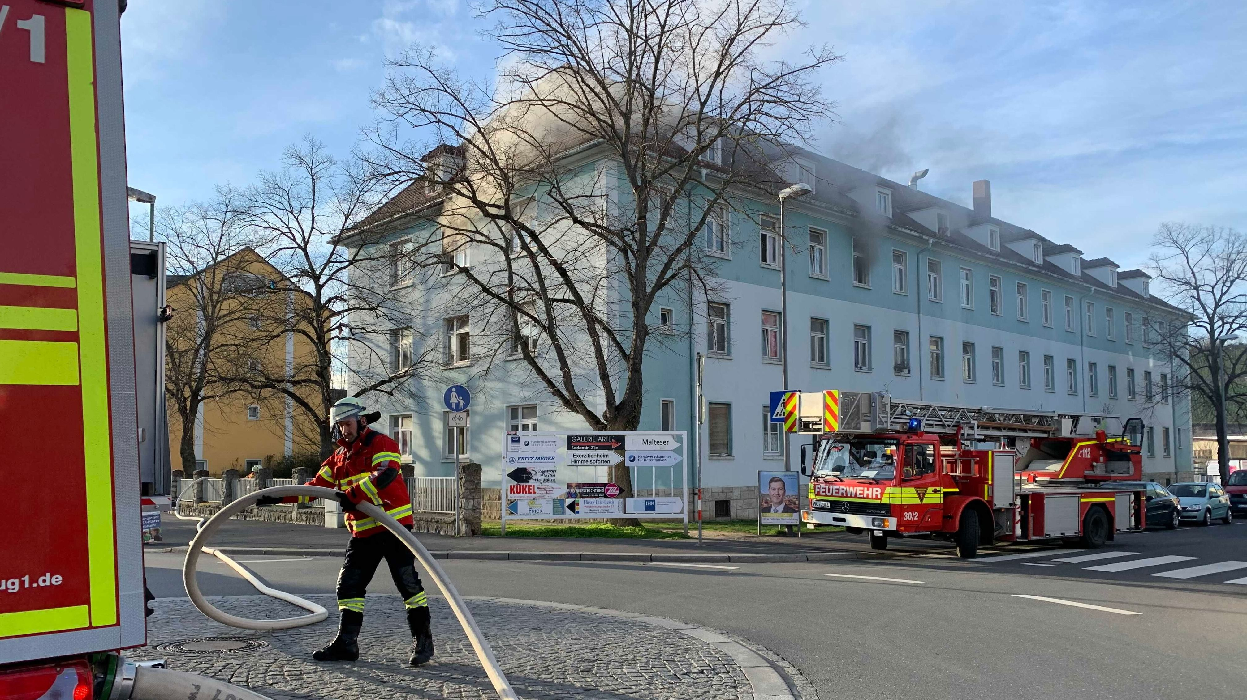 Brand in Obdachlosen-Unterkunft in Würzburg