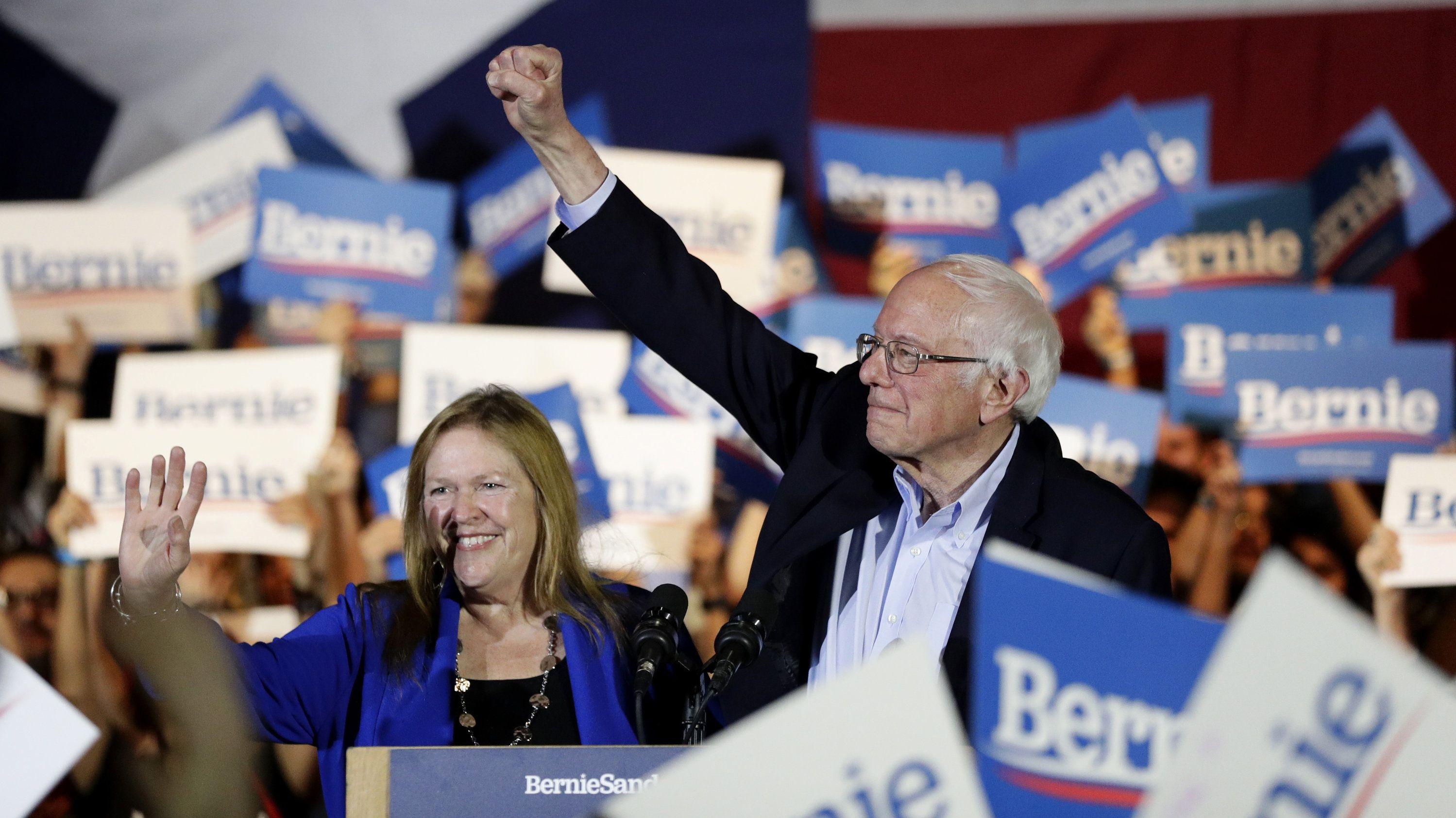 Bernie Sanders gewinnt in Nevada - und auch hier in Vermont.