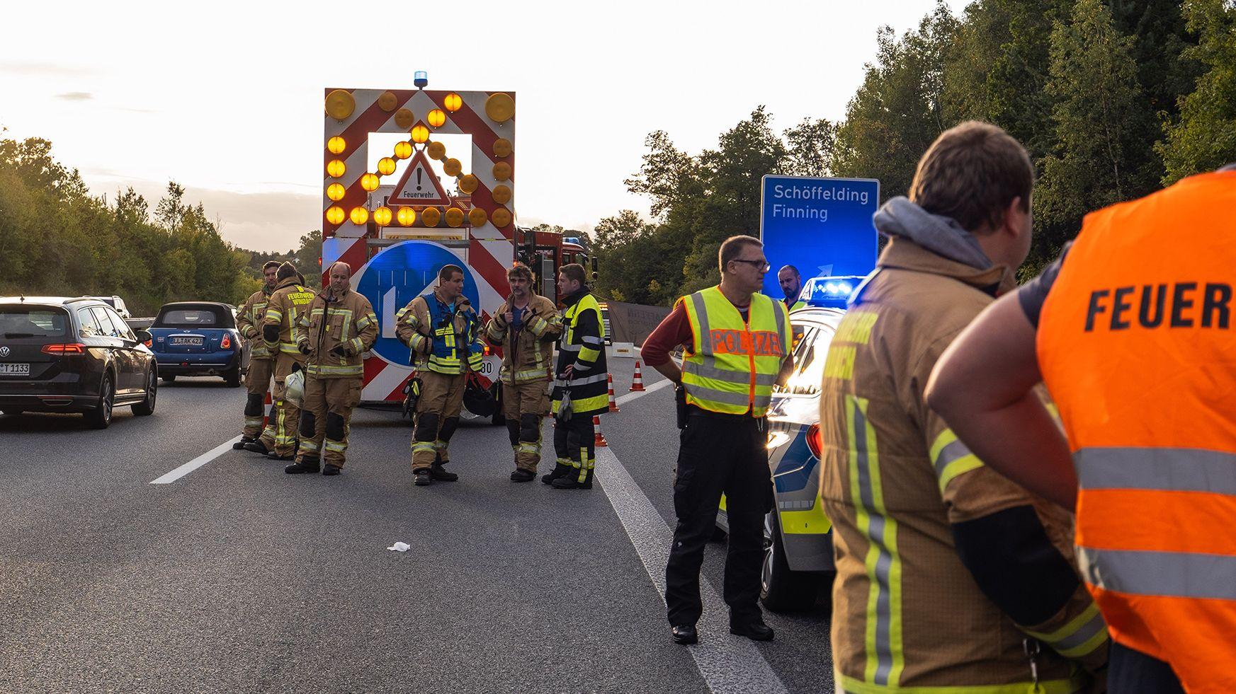 Tragischer Unfall auf der Autobahn 96 bei Schöffelding